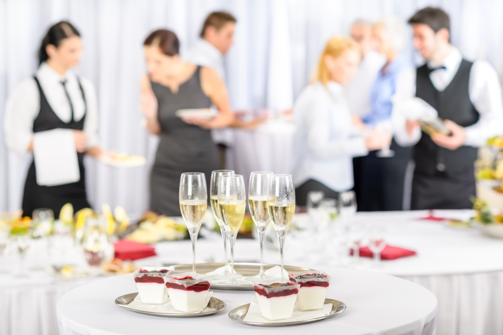 Canapes, meeting lunches and formal dinners can be catered for.